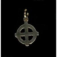 Pendentif croix celtique doré
