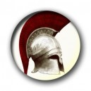 Badge casque hoplite