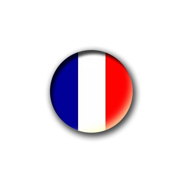 badge drapeau bleu blanc rouge patriote productions. Black Bedroom Furniture Sets. Home Design Ideas