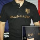 Polo Charlemagne brodé or