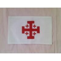 Brassard blanc - croix de Jérusalem