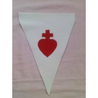 Fanion Sacré-Coeur blanc