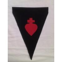 Fanion Sacré-Coeur noir