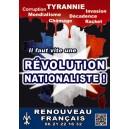 """Autocollant """"Révolution nationaliste"""""""