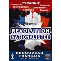"""100 autocollants """"Révolution nationaliste"""""""