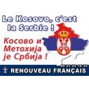 100 autocollants Kosovo serbe