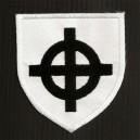 Ecusson blanc croix celtique (blason)