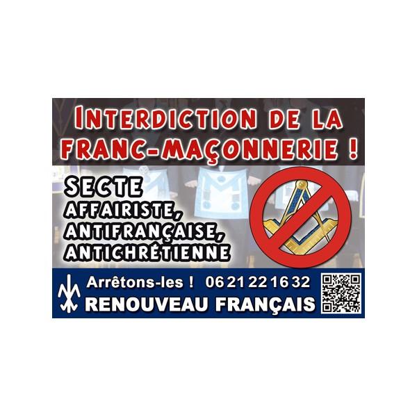 100 autocollants anti Franc-Maçonnerie